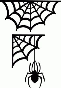 211x300 Spider Web Clipart Sticker