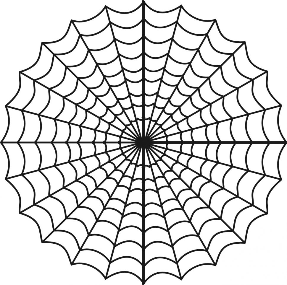 970x965 Coloring Pages Spider Web Coloring Page Surprising Halloween