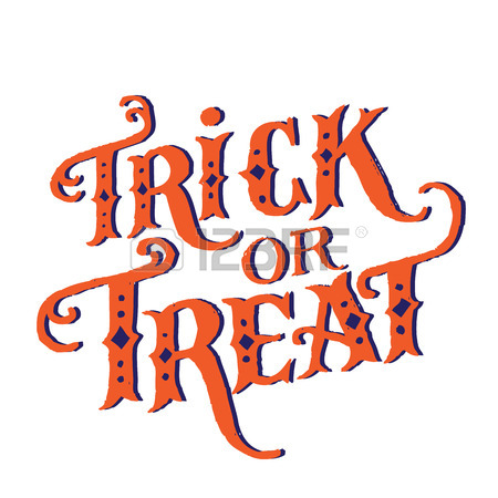 450x450 Hand Drawn Vintage Halloween Text With Hand Lettering