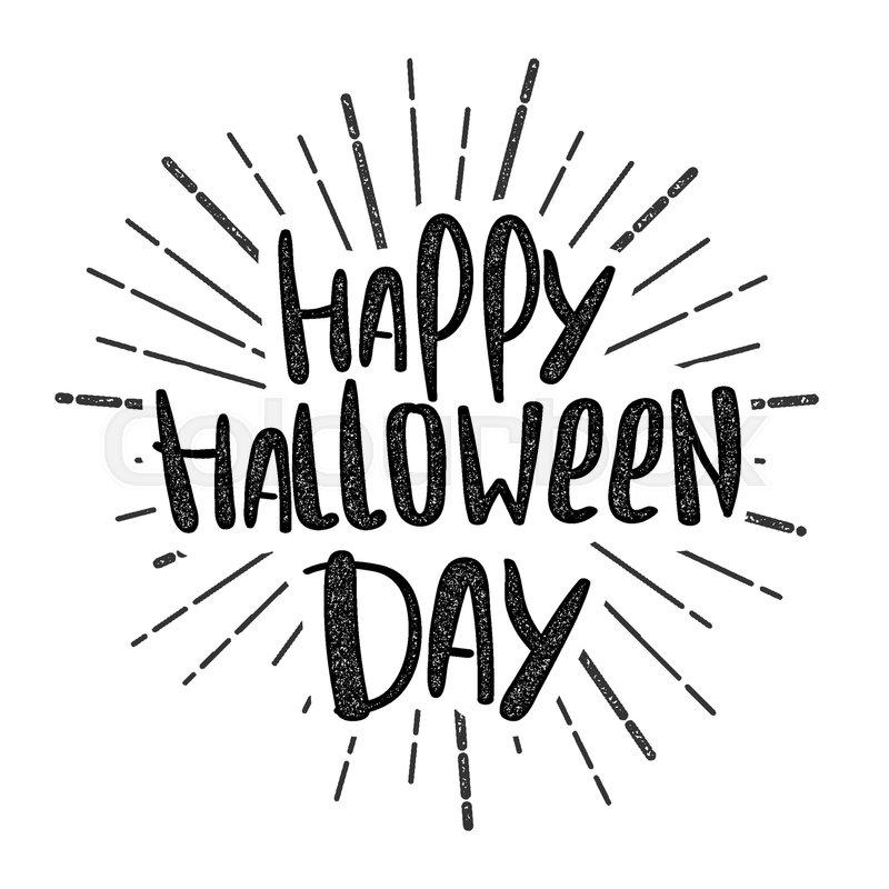 800x800 Handwritten Happy Halloween Lettering Comic Text Phrase. Scary