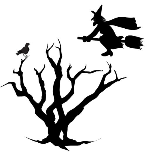 520x520 Free Black and White Halloween Clip Art HubPages