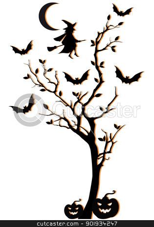 315x464 Halloween Tree Clipart