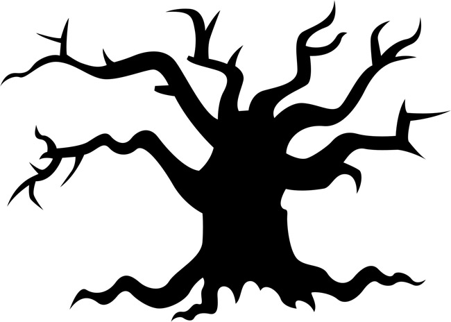 650x464 Halloween Clipart Spooky Tree