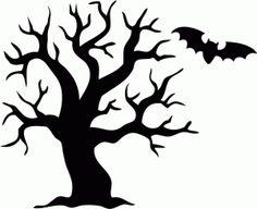 236x192 Spooky Halloween Tree Clipart