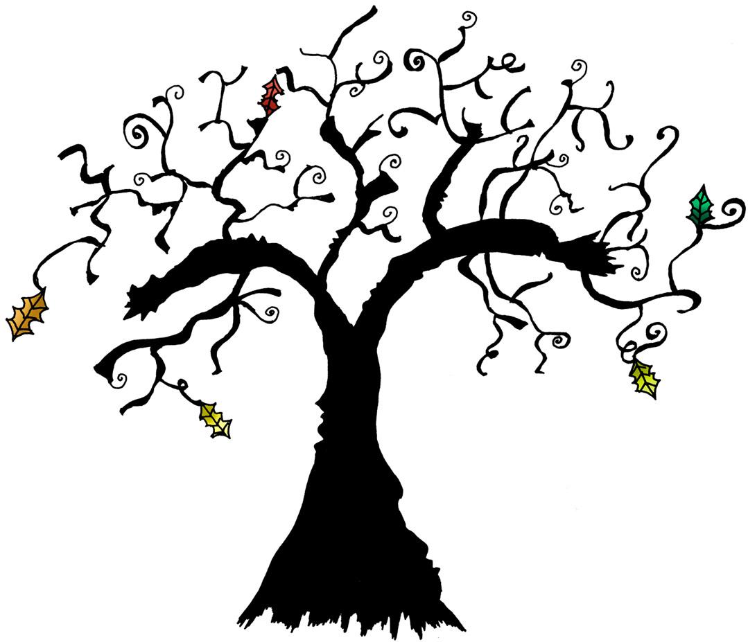 1079x927 Creepy Clipart Haunted Tree