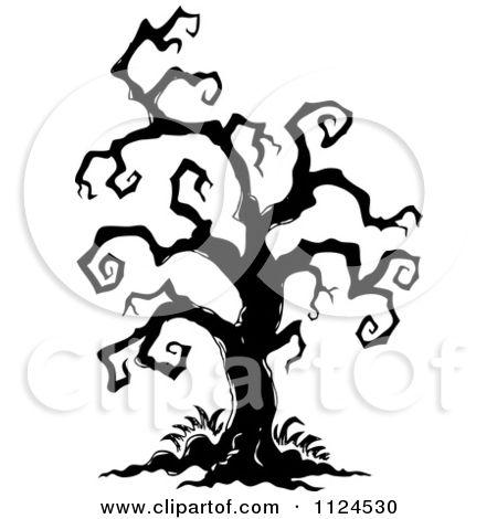 450x470 Drawn Dead Tree Spooky