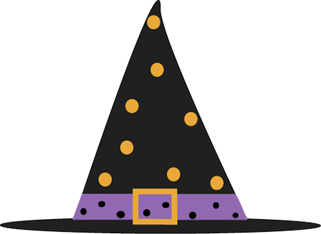 450x329 Polka Dot Witch Hat Clip Art