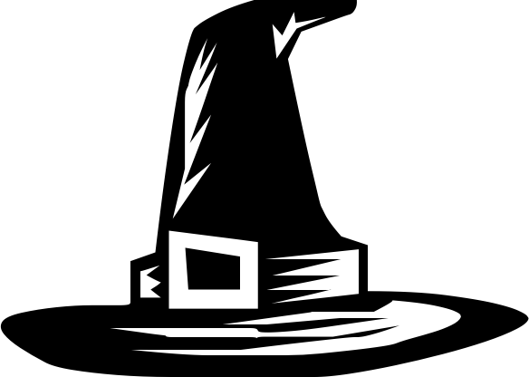 584x416 Witch Hat Clipart Black And White