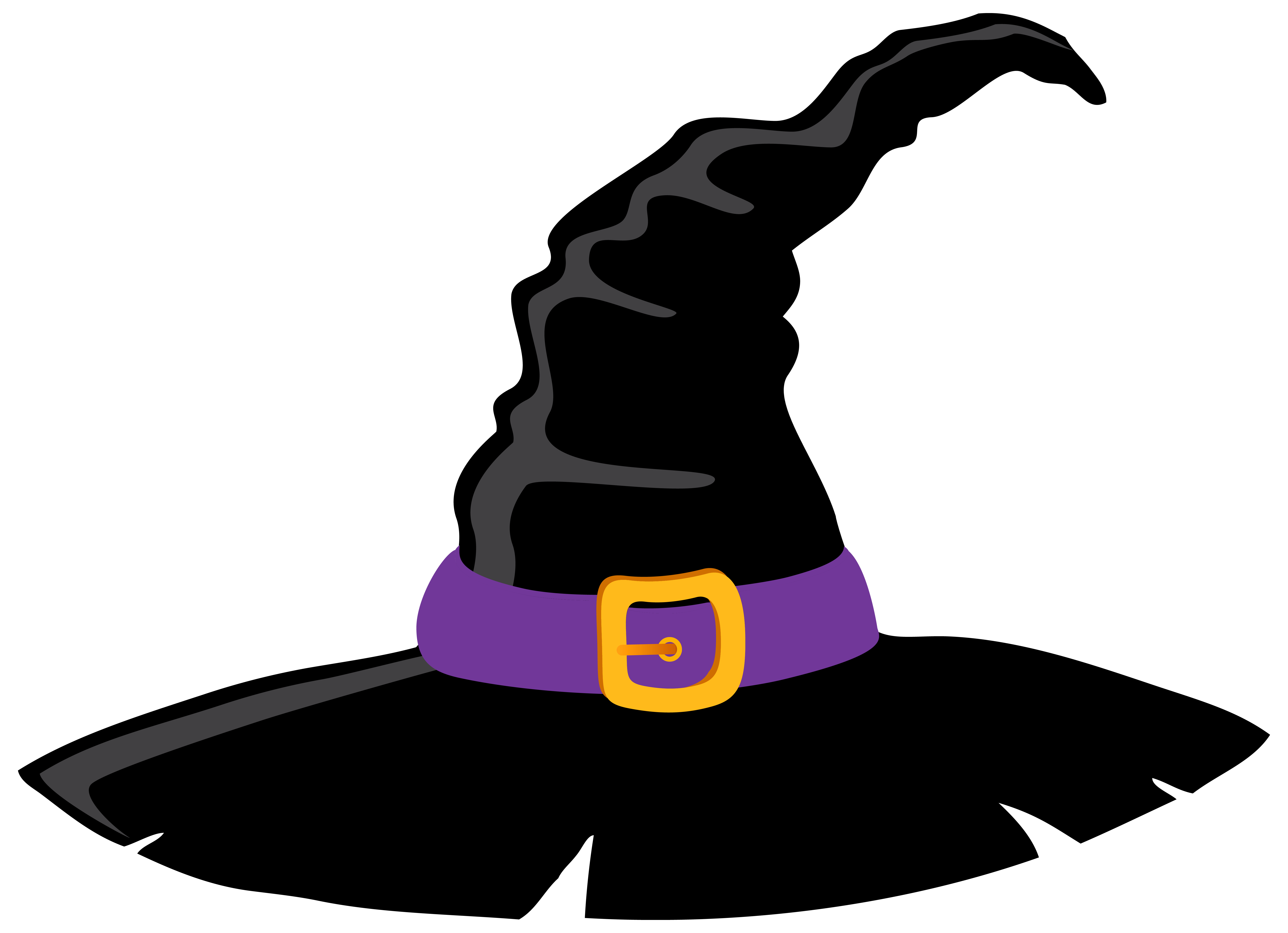 6312x4571 Witch Hat Clipart Border