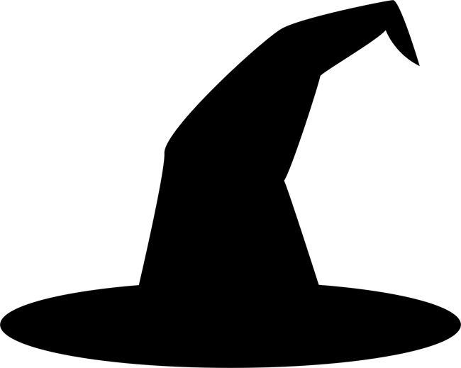 650x519 Witch Hat Stencils Spooky Halloween Decorations Clipart