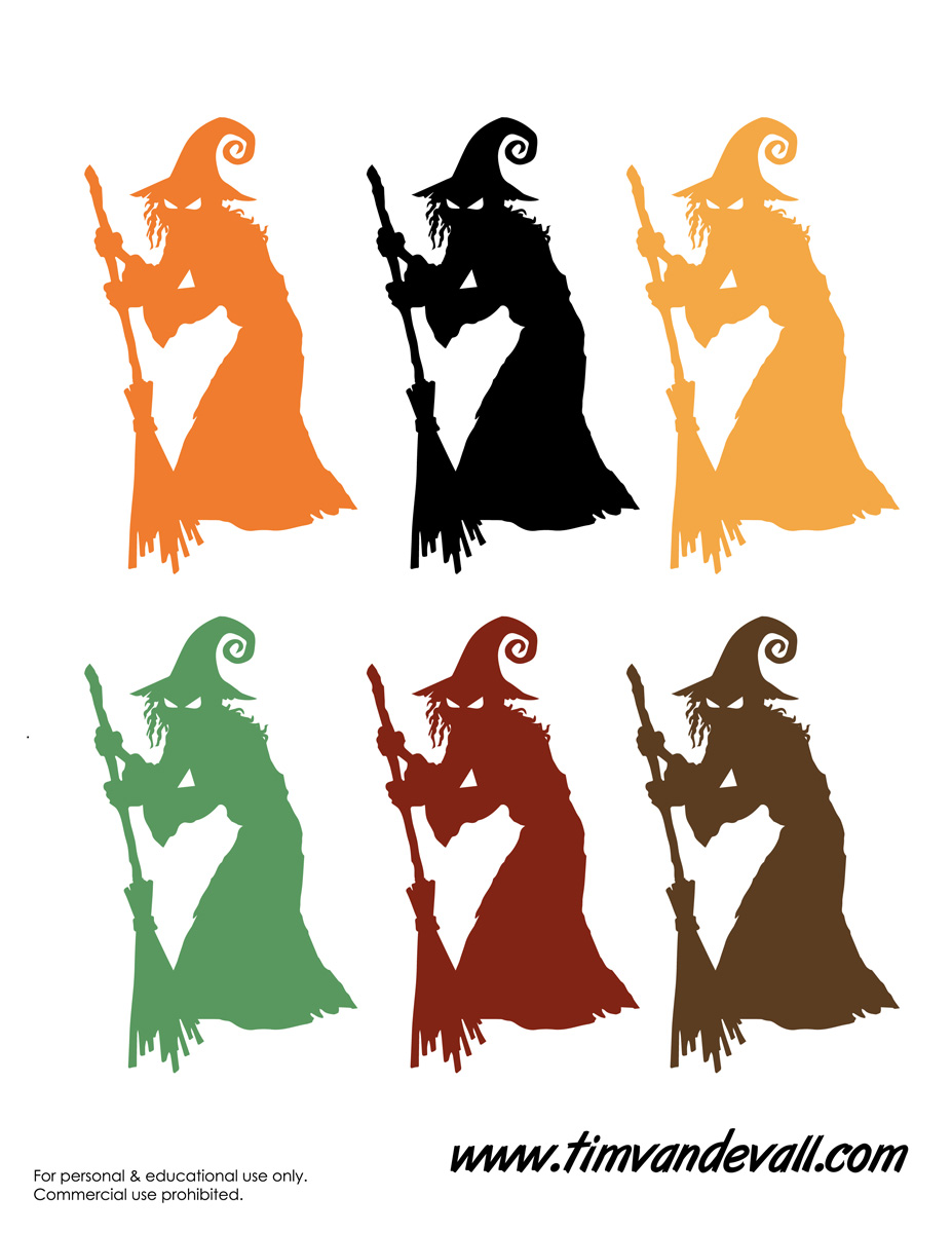 927x1200 Printable Witch Templates Amp Halloween Witch Decorations