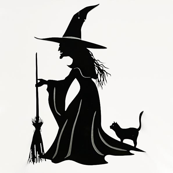 595x595 Acrylic Halloween Witch Mobile