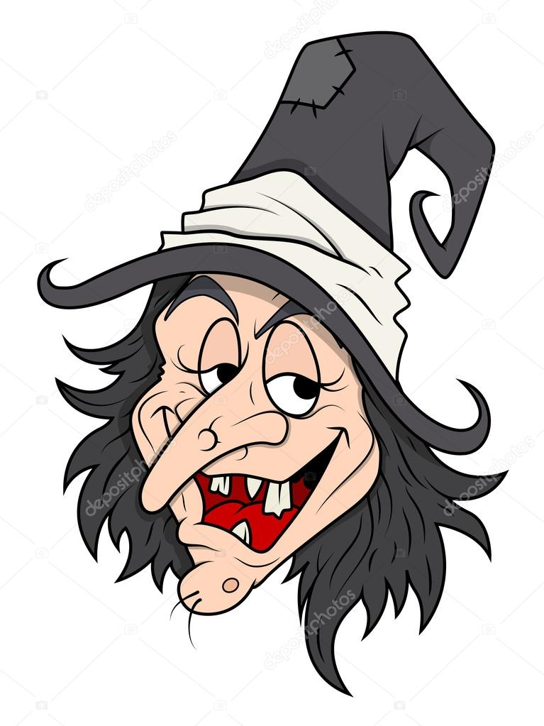 767x1023 Smiling Cunning Halloween Witch Vector Stock Vector Baavli