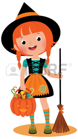 254x450 Witch Halloween On Background Of The Moon Royalty Free Cliparts