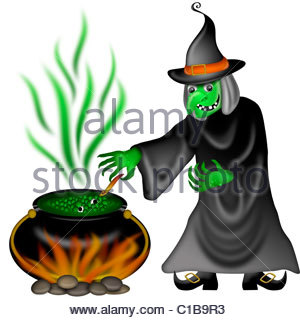 300x320 Face Halloween Warts Witchcraft Wizard Witch Green Greeting