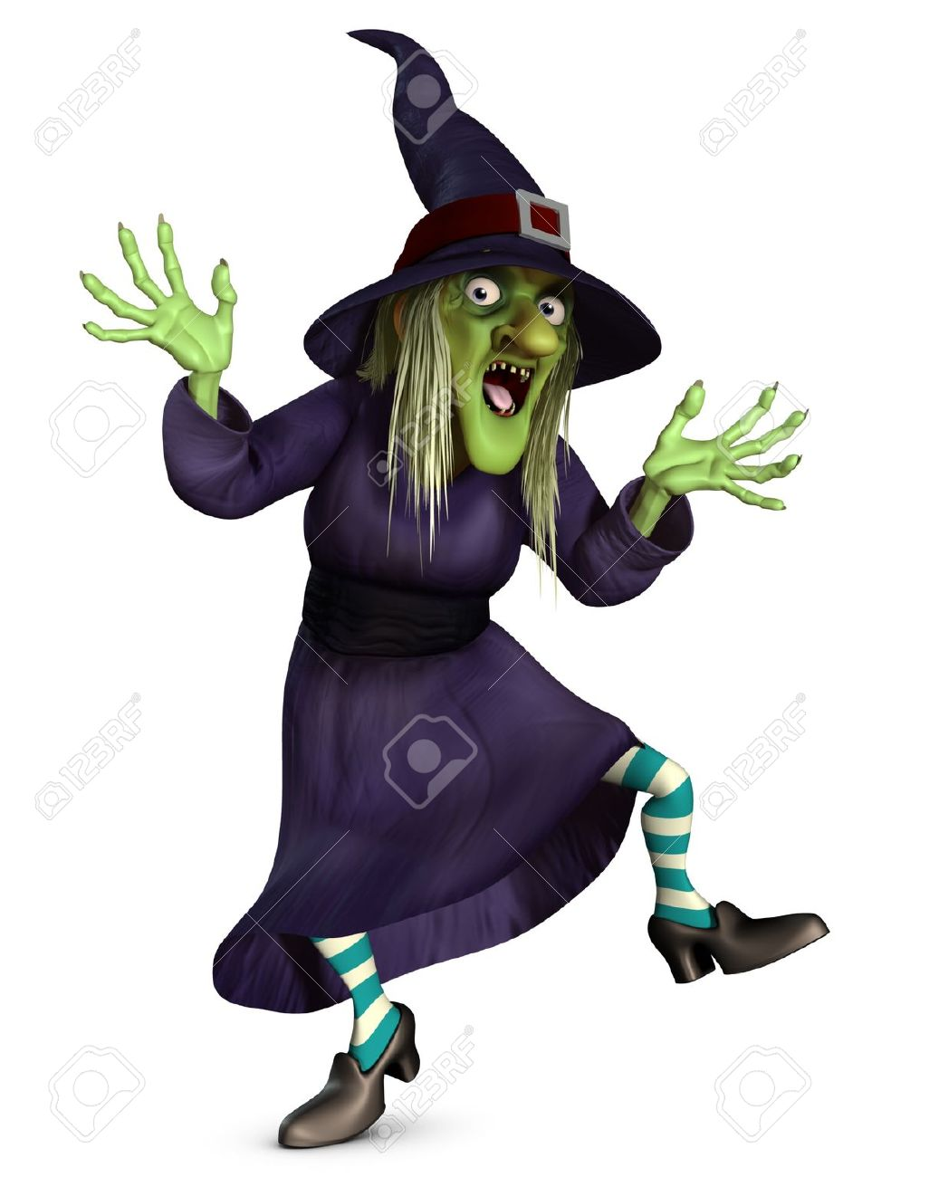 1037x1300 3d Cartoon Halloween Crazy Witch Stock Photo, Picture And Royalty