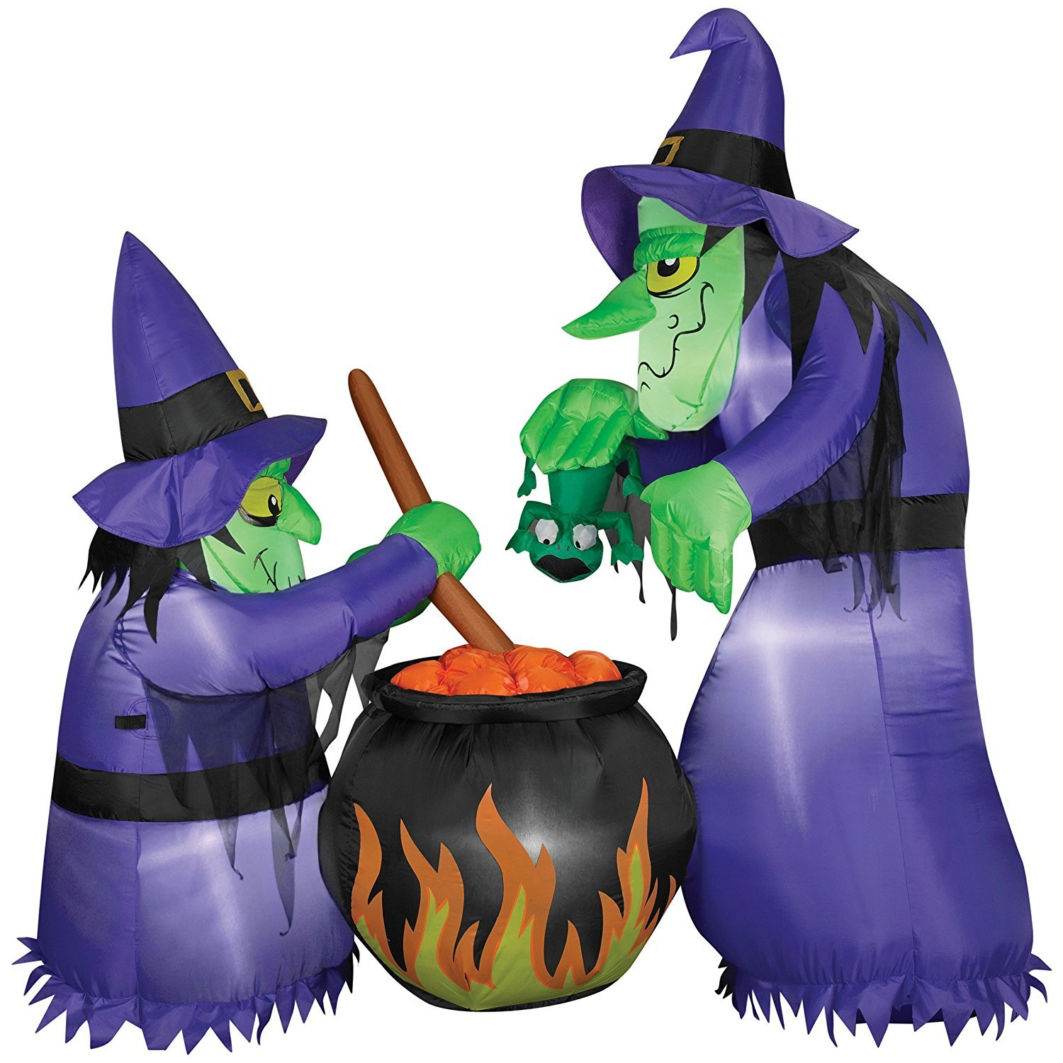 1500x1500 6 Foot Lighted Airblown Halloween Inflatable Witches With Cauldron
