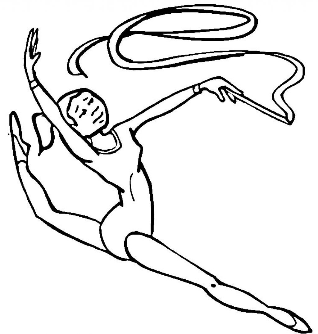 1024x1076 Gymnastic Coloring Pages