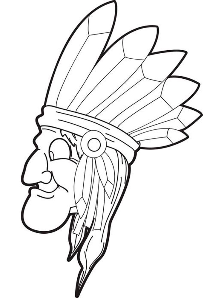750x1000 Native American Boy Coloring Pages. Free Printable Native American