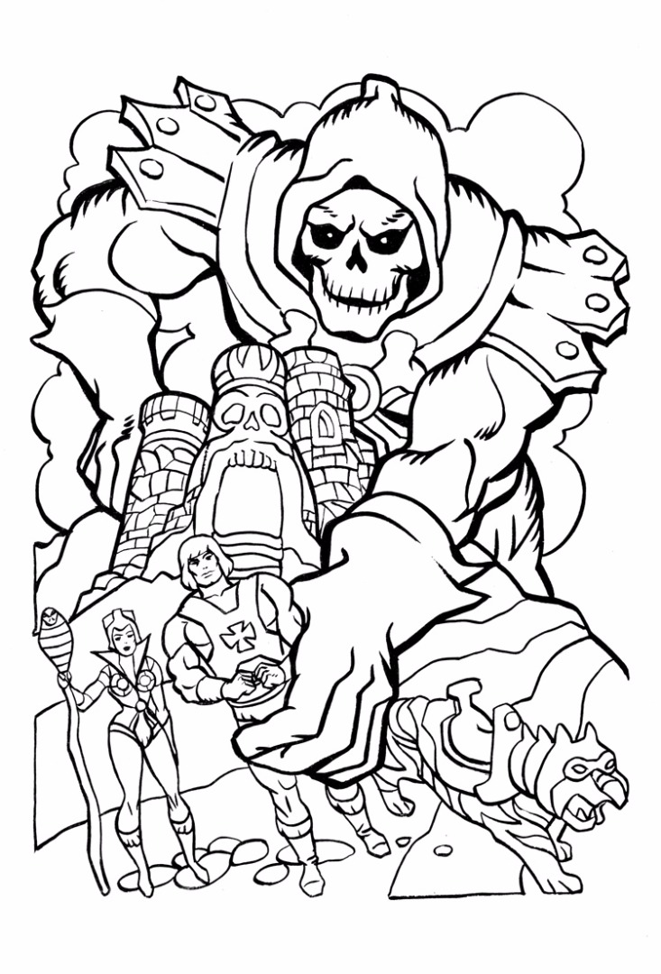 733x1080 Man Coloring Pages