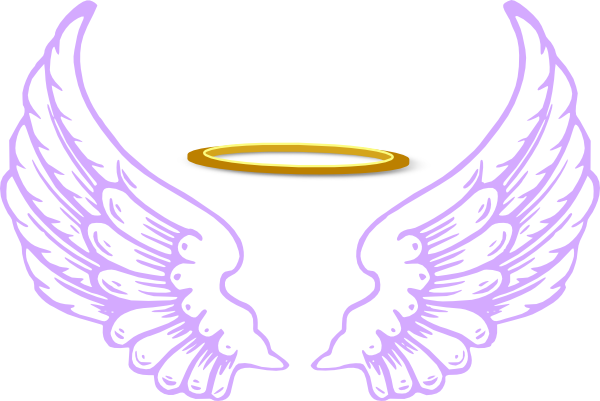 600x401 Angel Wings And Halo Clip Art Clipart Backgrounds