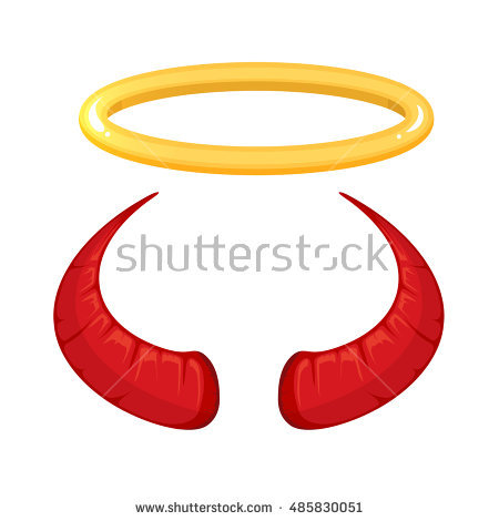 450x470 Halo Clipart Demon Horns