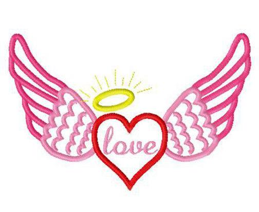 504x414 Halo Valentine Clipart Image