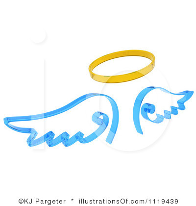 400x420 Halo Clipart Baby Angel Wing