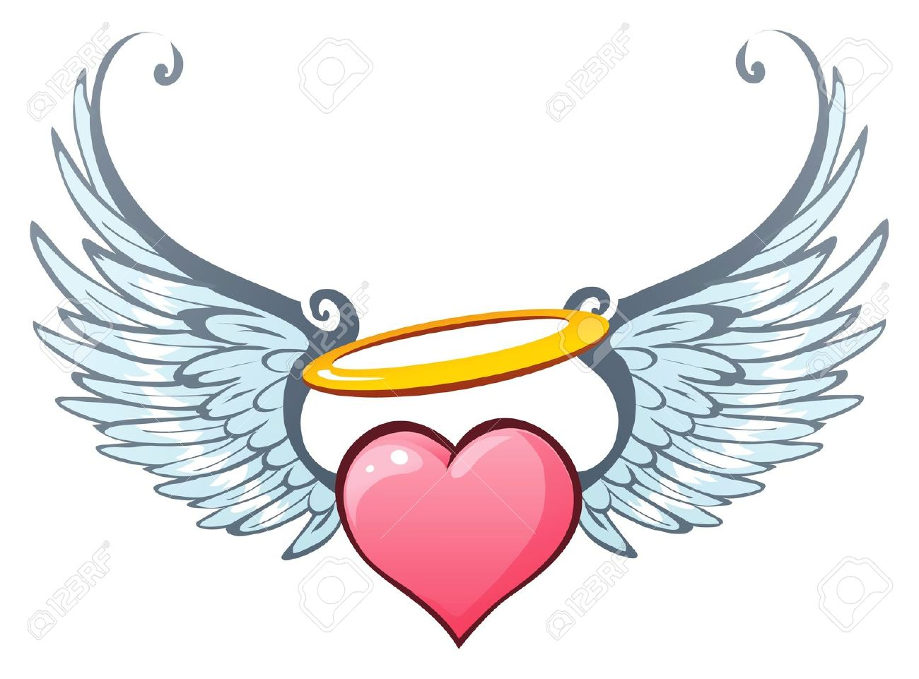 1300x961 Halo Clipart Heart Wing