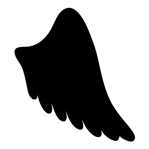 500x500 Halo Clipart Simple Wing