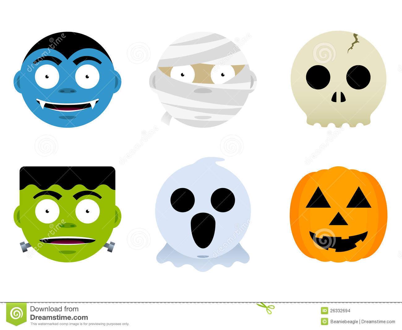 1300x1065 Halloween Faces Clip Art