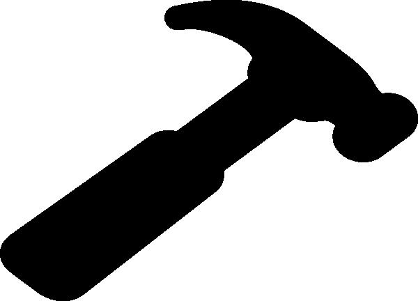 600x432 Hammer Clip Art Silhouette Download Vector Clip