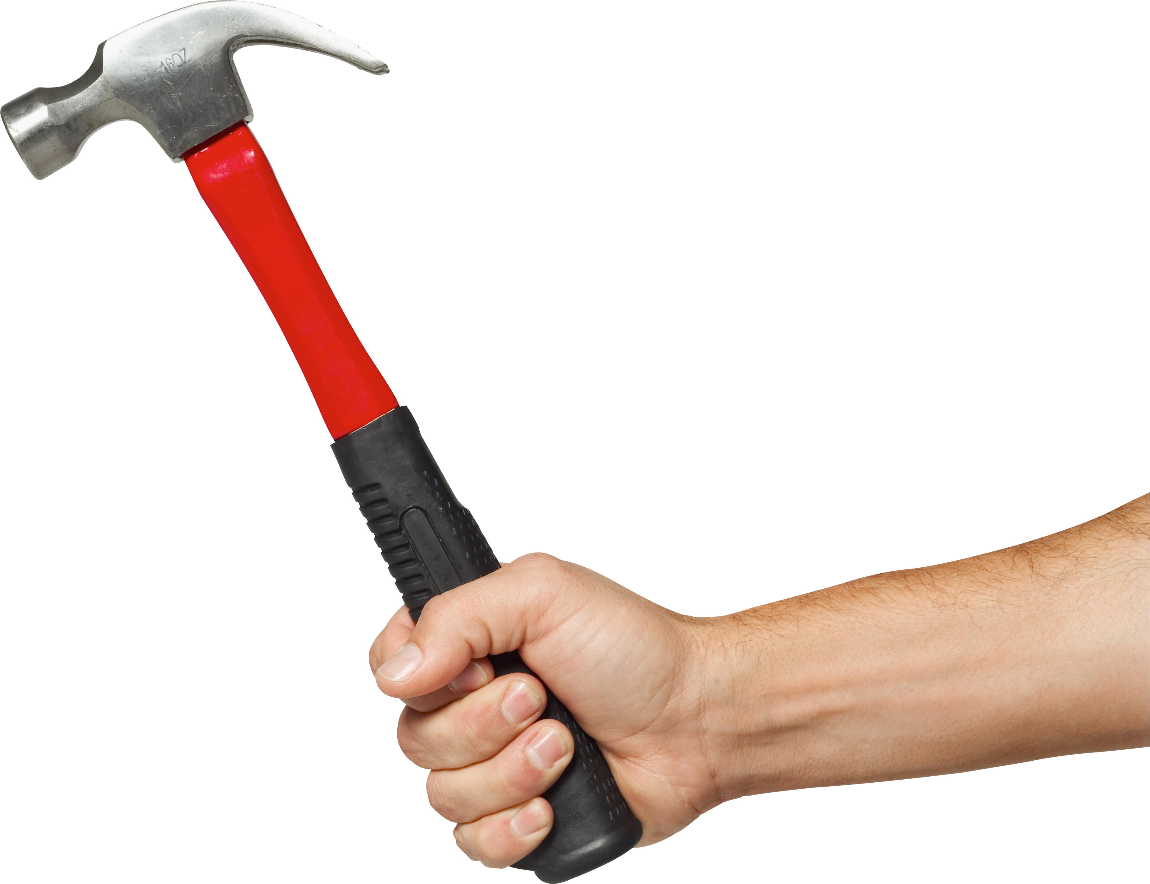 3812x2931 Hand Holding Hammer Four Isolated Stock Photo By