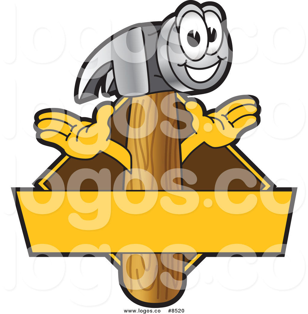 1024x1044 Royalty Free Clip Art Vector Logo Of A Happy Claw Hammer Logo