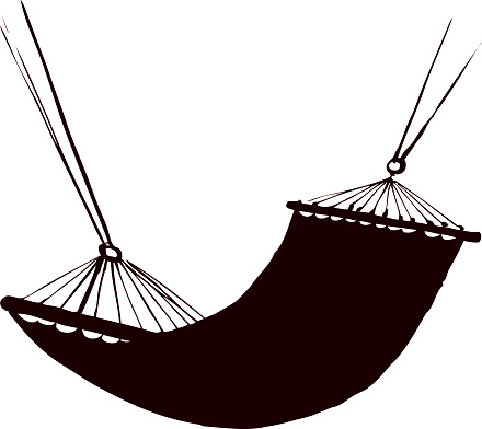 440x392 Hammock Clipart Black And White