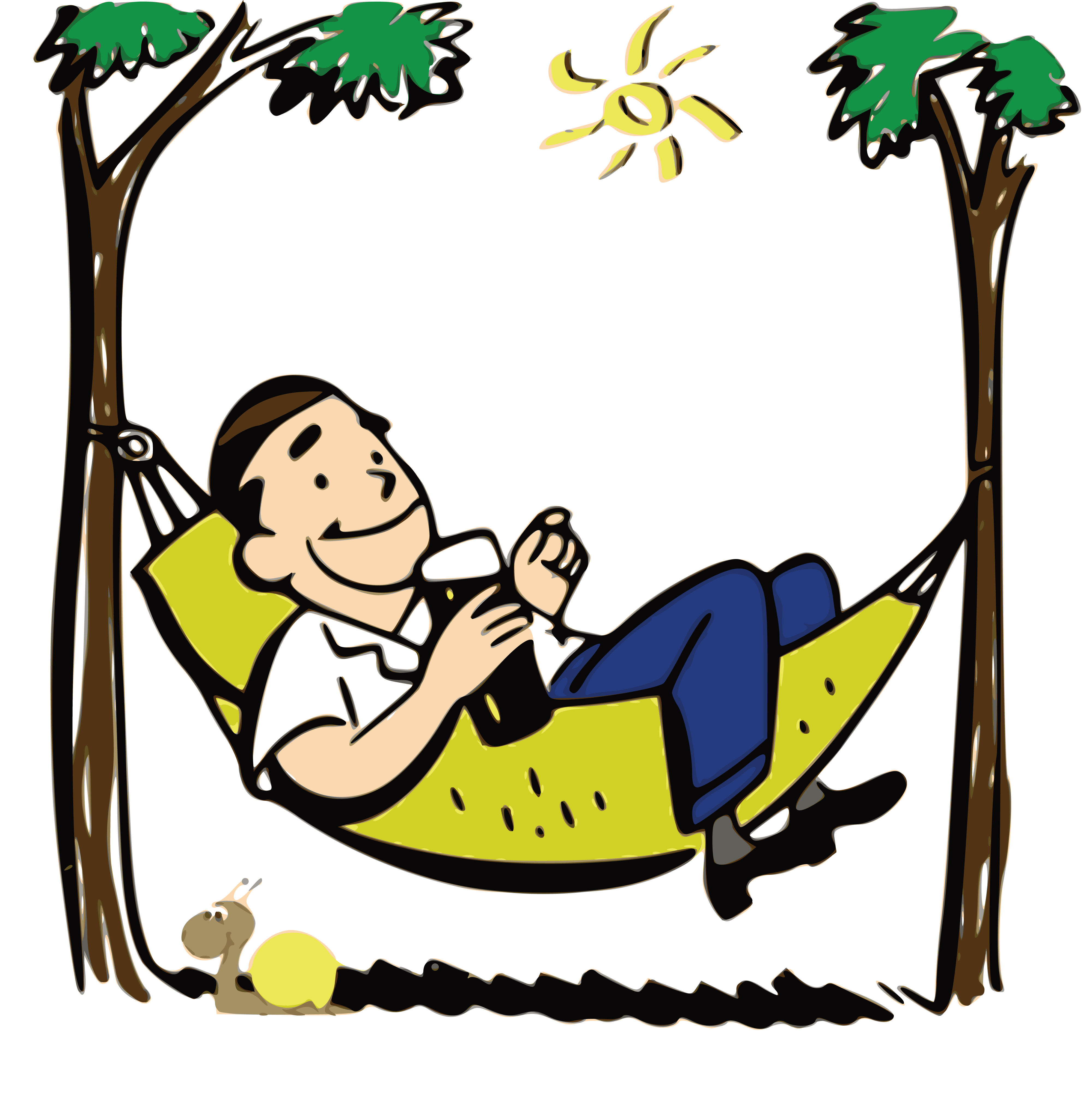 4000x4006 Hammock Clipart Relaxation