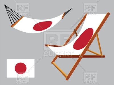 400x300 Japan Flag Hammock And Deck Chair Set Royalty Free Vector Clip Art