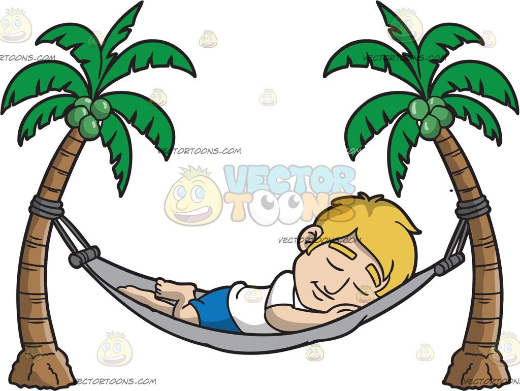 1024x770 A Sleeping Man In A Hammock Cartoon Clipart