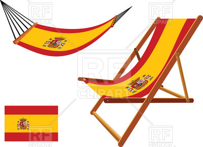 400x290 Spain Flag Hammock And Deck Chair Royalty Free Vector Clip Art