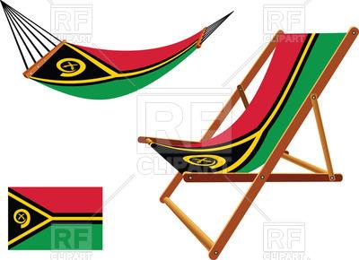 400x290 Vanuatu Flag Hammock And Deck Chair Royalty Free Vector Clip Art