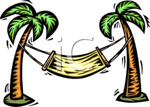 300x215 Art Image A Hammock Between Two Palm Trees