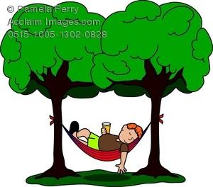 300x264 Art Image Of A Guy Sleeping In A Hammock