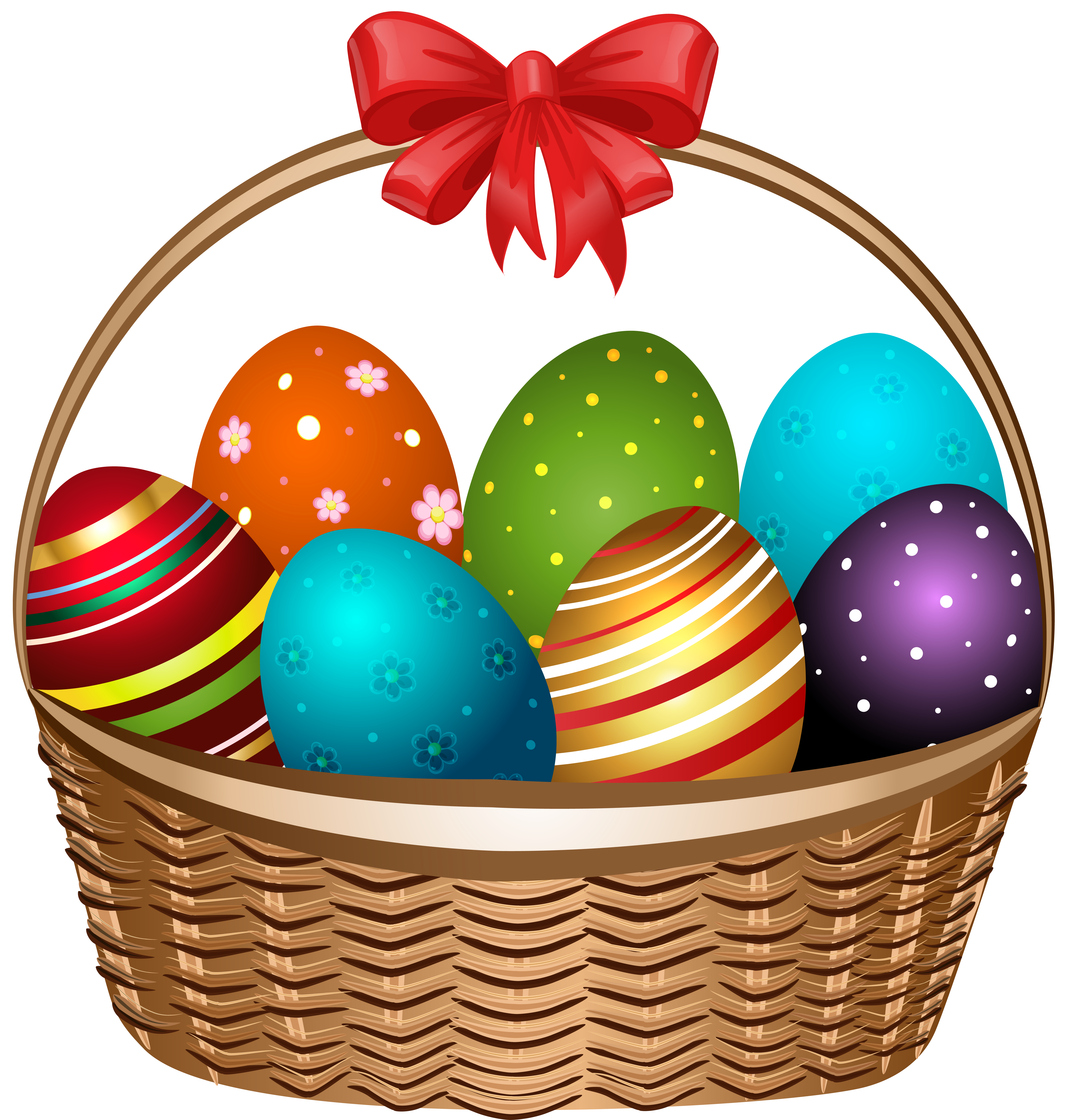 5931x6213 Easter Basket Clip Art Many Interesting Cliparts