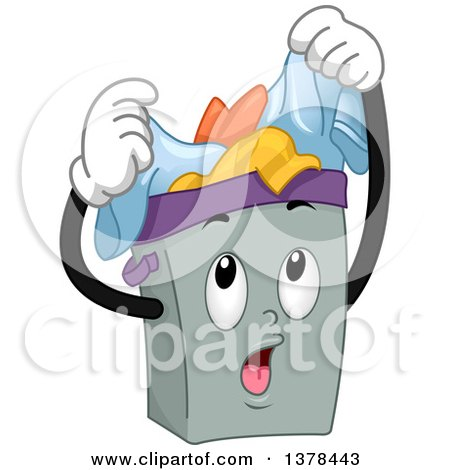 450x470 Clipart Of A Laundry Hamper Full Of Dirty Clothes