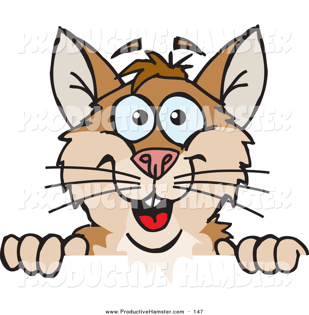 1024x1044 Clip Art Of A Happy Brown Hamster Peeking Over A Sign By Dennis