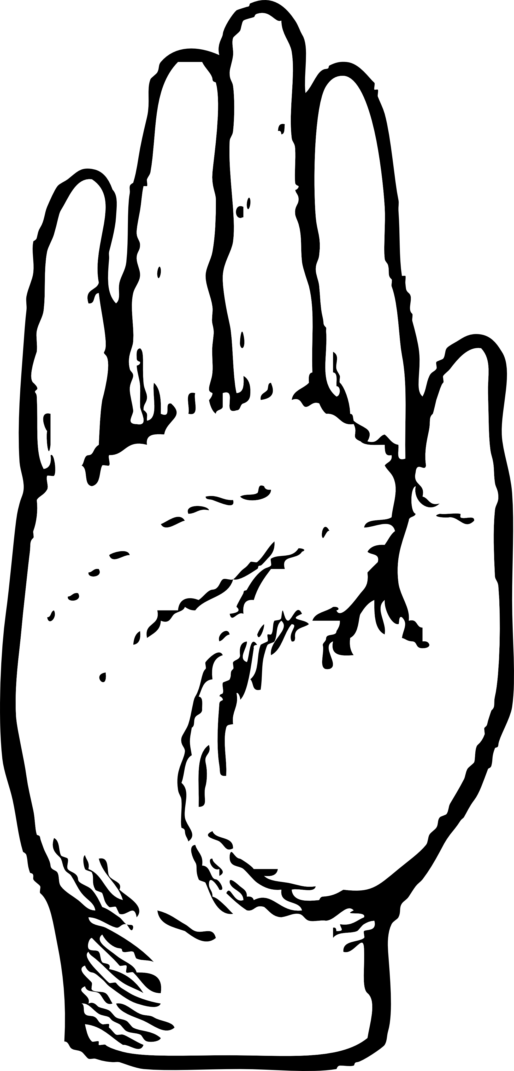 1969x4098 Hand Black And White Black And White Hand Clipart 2