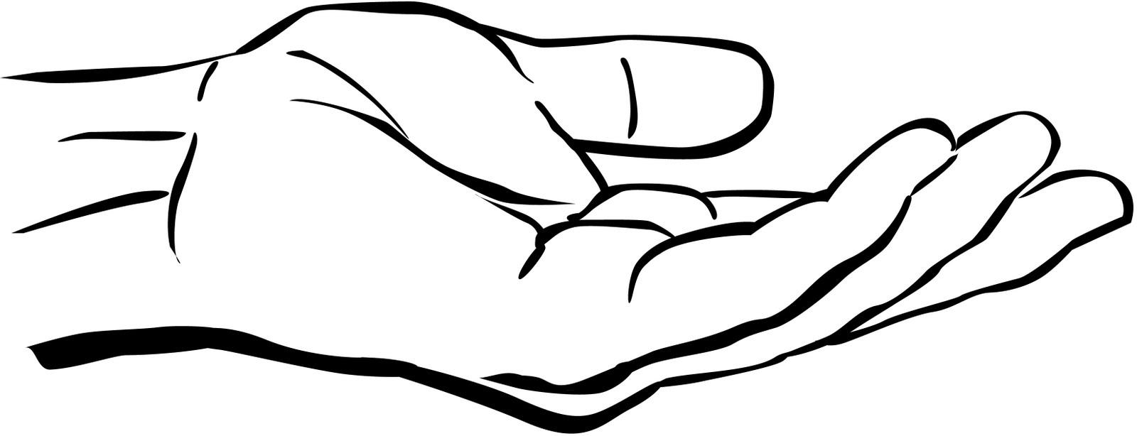 1600x614 Hand Clipart Black N White