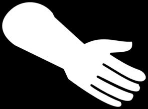297x219 White Hand Clip Art