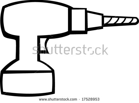 450x334 Drill Clipart Black And White