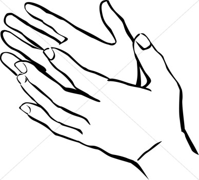 388x352 Hand Clipart Black And White